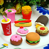 Special Design Fast Food Shaped Eraser Set(4 PCS) For School / Office