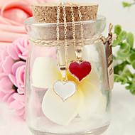 Недорогие $0.99 Модное ювелирное украшение-Жен. Ожерелья с подвесками - Сердце, Любовь Мода Белый, Черный, Красный Ожерелье Назначение Для вечеринок