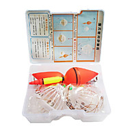 Dual Fishing Buoys + Bait Cages with 4 Hooks Set