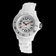 Malý Intimes Dětský kulatý ciferník silikonové kapela Quartz analogové náramkové hodinky (různé barvy)