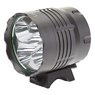 お買い得  フラッシュライト/ランタン/ライト-照明 ヘッドランプ 自転車用ライト LED 4000 ルーメン 3 モード Cree XM-L T6 18650 キャンプ/ハイキング/ケイビング 日常使用 サイクリング 狩猟 旅行 ワーキング 登山 アルミ合金