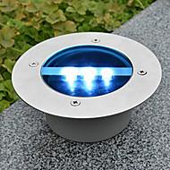 abordables EU Almacén-Solar Power Ronda empotrada cubierta del muelle Camino del jardín de luz LED