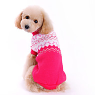 Dog Sweater Dog Clothes Woolen Winter Spring/Fall Cute Fashion Bowknot Rose Costume For Pets