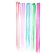 Recta sintética extensión del pelo (color de la fluorescencia)