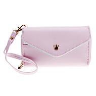 Прекрасный Конверт кошелек кошелек стиль сумка с Стилус для Samsung / Iphone Сотовые телефоны в возрасте до 5 дюймов (розовый)