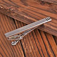Henkilökohtainen lahja Miesten Silver Metal kaiverrettu Tie Clip