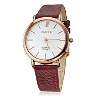 baratos -Homens Relógio Elegante Quartzo Preta / Marrom Analógico Clássico - Preto Marron