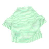 お買い得  -犬 Tシャツ 犬用ウェア 縞柄 グリーン コットン コスチューム ペット用