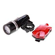 Sykkellykter Frontlys til sykkel Baklys til sykkel LED Sykling Vanntett LED Lys AAA 100 Lumens Batteri Camping/Vandring/Grotte