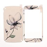 Kwiat wzór z przodu i tyłu ekranu Skóra Naklejki Protector i9082 Samsung Galaxy Wielki Duos