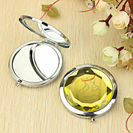 Personalized Gift Cat Pattern Chrome Compact Mirror