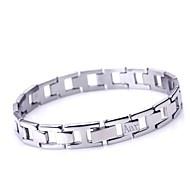 Jóias Masculinas presente personalizado simples design em aço inoxidável gravado ID pulseiras um centímetro Largura