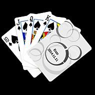 ポーカー用のカードを再生するパーソナライズされたギフト白ドット柄
