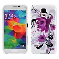 abordables Galaxy S5 Carcasas / Fundas-Para Funda Samsung Galaxy Diseños Funda Cubierta Trasera Funda Flor TPU Samsung S5