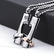 abordables Regalos Personalizados-Regalos personalizados - Collares - para Unisex - Acero inoxidable - Oro / Plata -