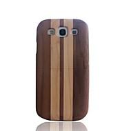 Для Кейс для  Samsung Galaxy С узором Кейс для Задняя крышка Кейс для Имитация дерева Дерево Samsung S3