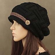 Для женщин Для женщин На каждый день Вязаная шапочка , Полиэстер