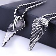 パーソナライズされたギフトウイング形状のステンレス鋼の宝石60センチメートルチェーンとペンダントネックレスを刻印