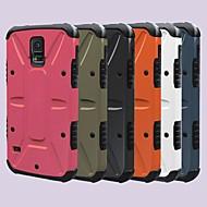 Для Кейс для  Samsung Galaxy Защита от удара / со стендом Кейс для Задняя крышка Кейс для Армированный PC Samsung S5 / Note 2