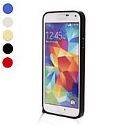 Недорогие Чехлы и кейсы для Galaxy S-Кейс для Назначение SSamsung Galaxy Кейс для  Samsung Galaxy Защита от удара Бампер Сплошной цвет Алюминий для S5