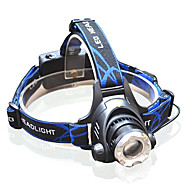 3 Headlamps Headlight LED >200 lm 3 Mode Cree XM-L T6 Adjustable Focus Zoomable for Multifunction