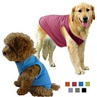 お買い得  -犬 Tシャツ 犬用ウェア ソリッド グレー パープル ローズ グリーン ブルー コットン テリレン コスチューム ペット用