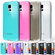 abordables Galaxy S5 Carcasas / Fundas-Funda Para Samsung Galaxy Funda Samsung Galaxy Congelada / Traslúcido Funda Trasera Un Color TPU para S5