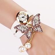 Dames Modieus horloge Armbandhorloge Kwarts imitatie Diamond PU Band Vlinder Bohémien Parels Zwart Wit Rood Geel