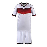 Masculino Camiseta Algodão Orgânico Listrado Manga Curta Esporte-Branco