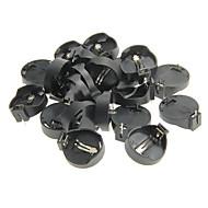 JTRONのCR2025 / CR2032汎用の電池ホルダー - ブラック(20個入)