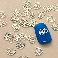200db szerelmes szív design szelet fém köröm dekoráció