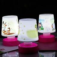 abordables Lámparas de Mesa-pat comodo dormitorio de la lámpara de escritorio de la lámpara ahorro de energía llevó la lámpara de tabla de la innovación (color al azar)