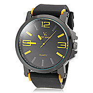 preiswerte -V6 Herrn Armbanduhr Quartz Japanischer Quartz Silikon Band Schwarz