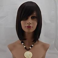 Χαμηλού Κόστους Συνθετικές περούκες-Συνθετικές Περούκες Ίσιο Με τα Μπουμπούκια Με αφέλειες Χωρίς κάλυμμα Γυναικεία Καφέ Φυσική περούκα Κοντό