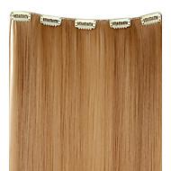 tanie Przedłużanie włosów-Klasyczny Ludzkich włosów rozszerzeniach #27 Blonde Czerwony Red Wine Blond platynowy Klasyczny Wysoka jakość Codzienny