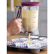 Cake Batter Dispenser With Measuring Label, 4-Cup Cake Mold,Baking Tool