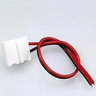 abordables Conectores-10MM 2PIN gratuito Soldadura Conector Uso para la tira llevada 5050/5630/5730 (10PCS/Lot)