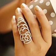 preiswerte -Damen Krystall / Strass Rosen / Blume Statement-Ring - Einzigartiges Design / Modisch / Europäisch Silber / Golden Ring Für Hochzeit /