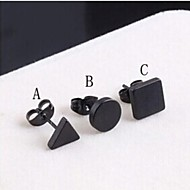 cheap -Men's Stud Earrings - Titanium Steel A / B / C For Wedding / Party / Daily
