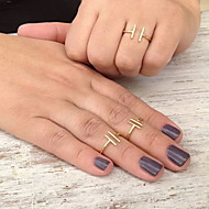 cheap -Women's Band Ring - Copper European, Simple Style, Fashion Adjustable Gold / Silver For Party / Daily / Casual