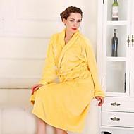 Bath Robe Żółty,Stały Wysoka jakość 100% Coral Fleece Ręcznik