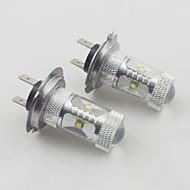 H7 30w 6xosram 450-550lm 6000k køligt hvidt lys førte pære til bil (10-24V, 2 stk)