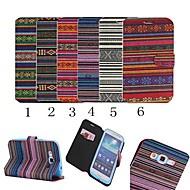 Для Кейс для  Samsung Galaxy Бумажник для карт / со стендом / Флип / С узором Кейс для Чехол Кейс для Полосы / волосы Искусственная кожа