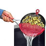 お買い得  キッチン用小物-キッチンツール ステンレス+プラスチック 折りたたみ式 / 多機能 / ドレイン スキマー フルーツのための / 野菜のための / 麺 1個