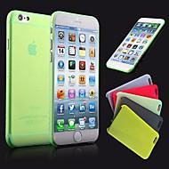 abordables Liquidación-Funda Para Apple iPhone 6 iPhone 6 Plus Ultrafina Congelada Traslúcido Funda Trasera Color sólido Dura ordenador personal para iPhone 6s
