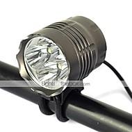 新款4T6 Bike Lights 5000 lm Mode Cree XM-L T6 with Charger Impact Resistant Rechargeable Strike Bezel Camping/Hiking/Caving Cycling/Bike