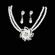 Biżuteria Naszyjniki Náušnice Urodziny Zaręczynowy Ślub Impreza Perłowy Stop Damskie Srebrne Prezenty ślubne