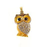 halpa -ZP 64GB kultainen pöllö kuvio bling timantti metalli tyyli usb-muistitikku