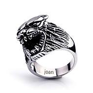 spersonalizowany prezent modne wilk biżuteria ze stali nierdzewnej w kształcie pierścienia grawerowane mężczyzn
