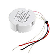 0.3A 19-24w dc 50-90v til ac 85-265V cirkulær ekstern konstant strøm strømforsyning driver til førte loftslampe